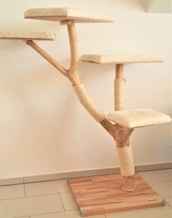 der kratzbaum ist sehr stabil eine fixierung an der wand. Black Bedroom Furniture Sets. Home Design Ideas