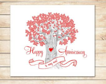Popular Items For Happy Anniversary On Etsy Free Anniversary Cards Happy Anniversary Cards Anniversary Cards
