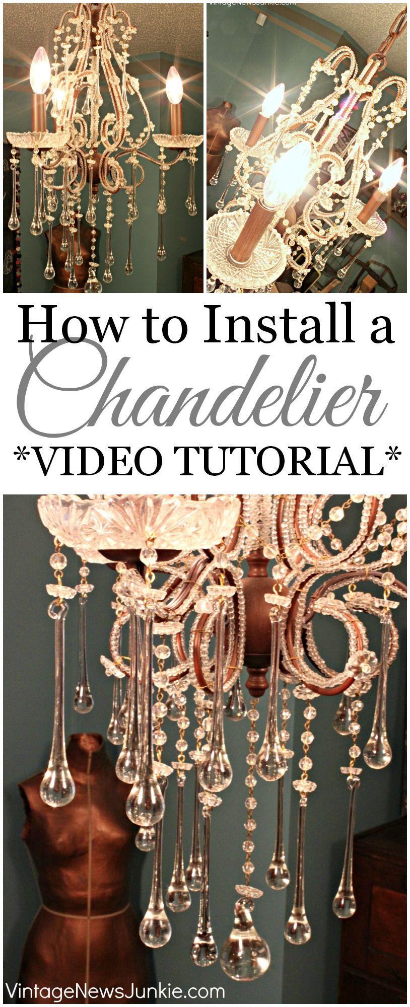 my 8 thrift store chandelier video tutorial tutorials lights rh pinterest co uk Install Light Fixture Wiring Light Switch Wiring Diagram