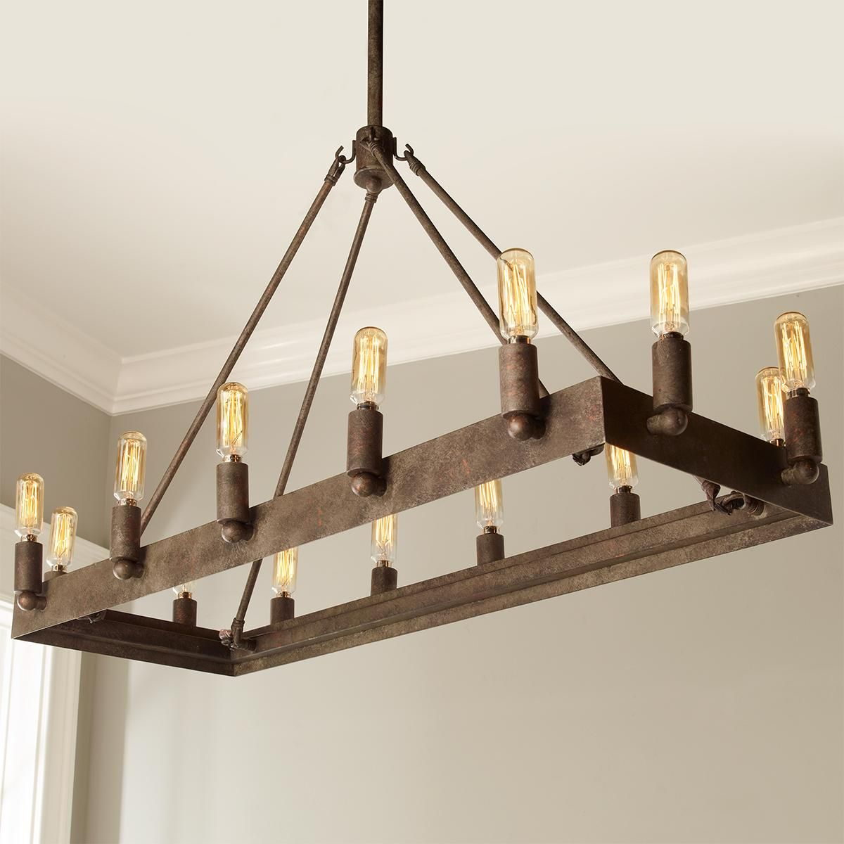 Urban loft industrial rectangular chandelier rectangular urban loft industrial rectangular chandelier aloadofball Gallery
