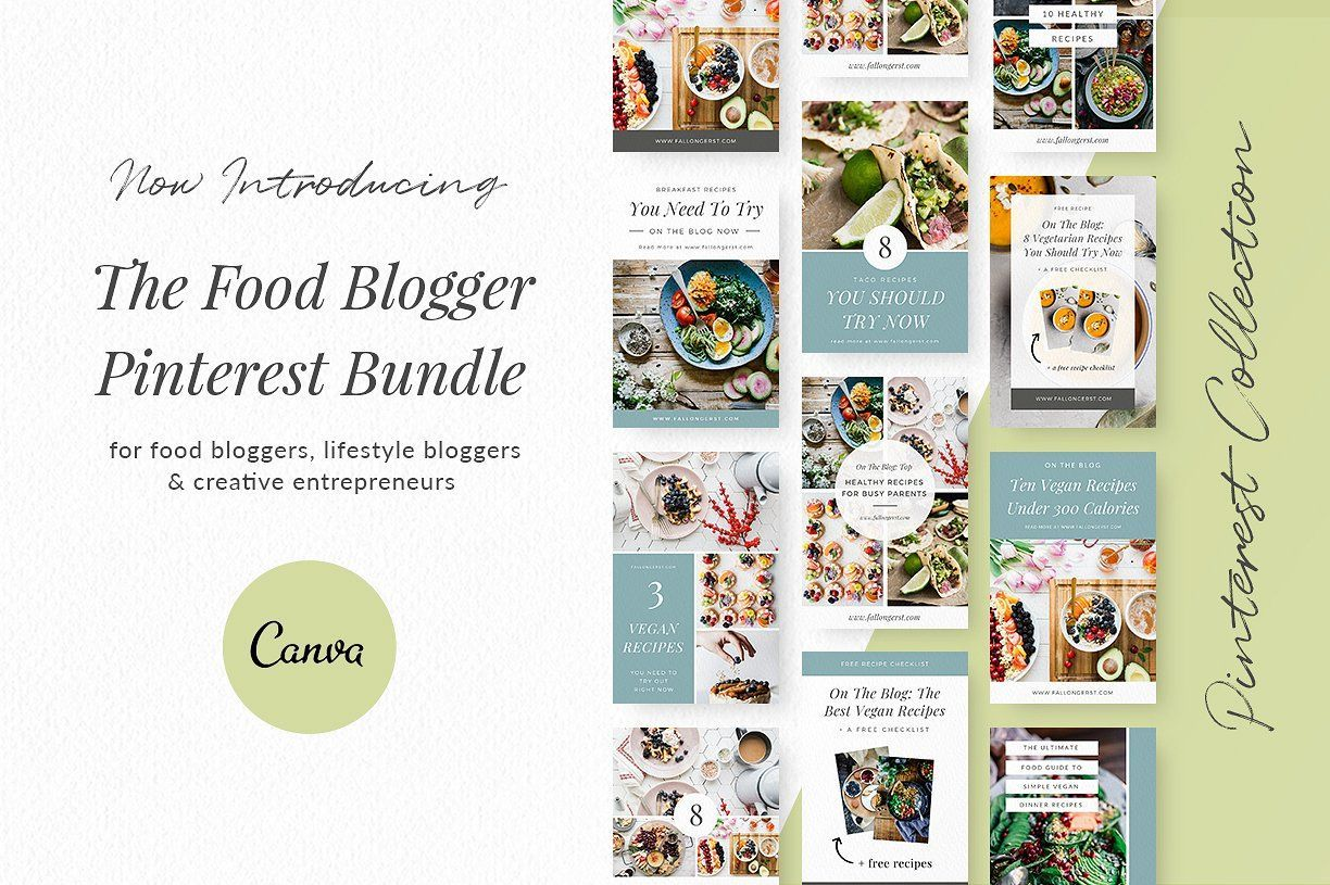 25 Food Blogger Pinterest Templates Pinterest Templates Instagram Post Template Blog Post Template