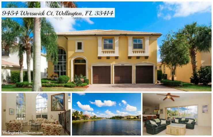 Olympia Waterfront Estate Home for Sale in Wellington featuring 4 Bedrooms/ Den/ Office/ Sitting Room, 4 Bathrooms and a 3 Car Garage. For more information or a private showing call 561-333-0446.