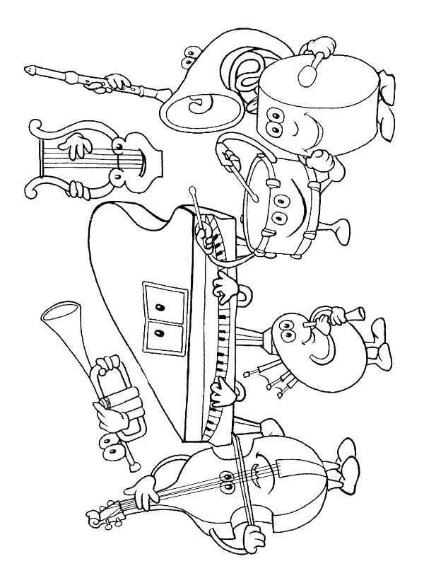 kids n fun coloring page musical instruments musical instruments
