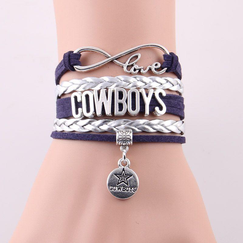 Infinito Amor pulsera de NFL Dallas Cowboys deporte equipo de Fútbol ...