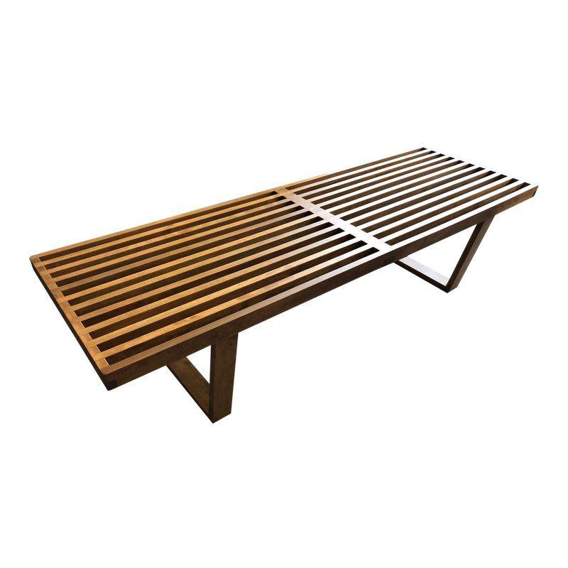 Surprising 1950S Vintage George Nelson Herman Miller Classic Slat Bench Theyellowbook Wood Chair Design Ideas Theyellowbookinfo
