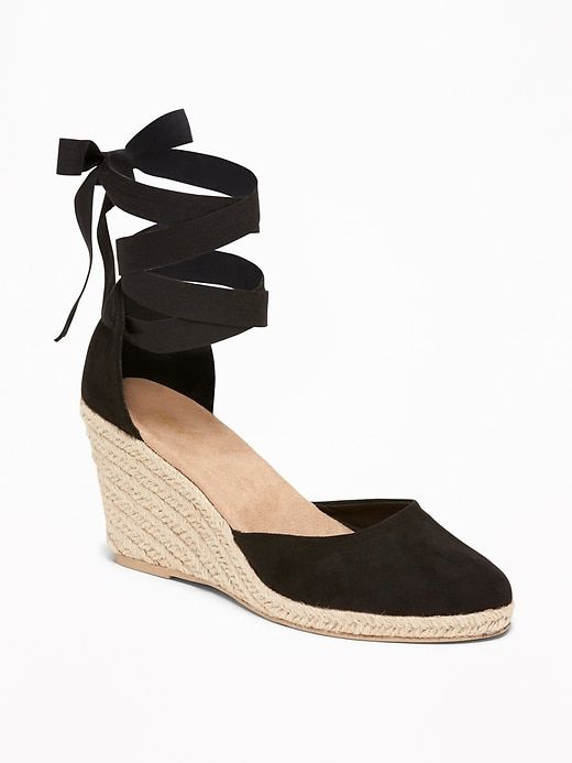 f866ef4db8d Old Navy Faux-Suede Espadrille Wedges for Women in 2019 | Products ...
