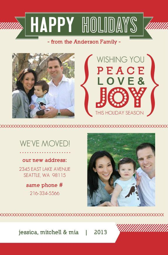 Weve Moved Christmas Card. 44 best christmas cards new address we ve ...