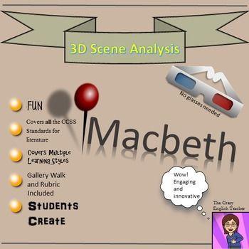 Macbeth D Scene Analysis Project Diorama Standards Based