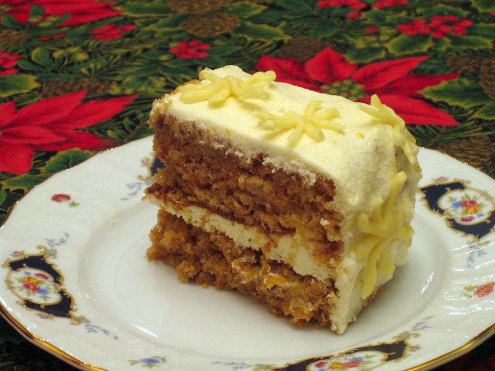 Carrot cake with lemonphiladelphia frosting carrot cake