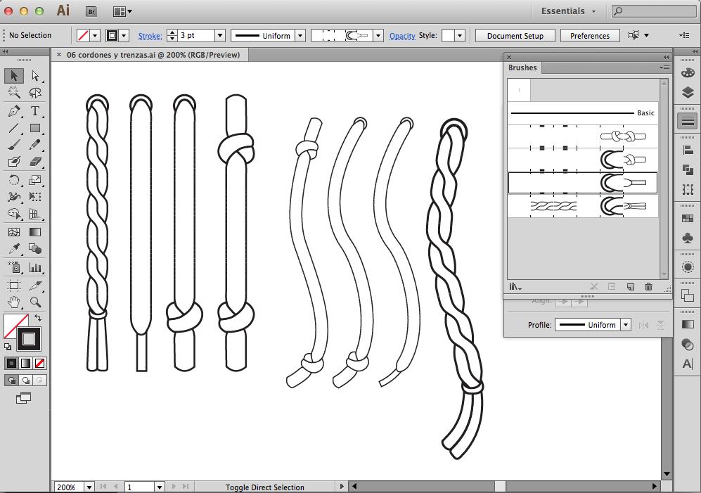 Descarga Pinceles De Cordones Para Adobe Illustrator Diseno De Ilustracion Bocetos De Diseno De Moda Disenos De Unas