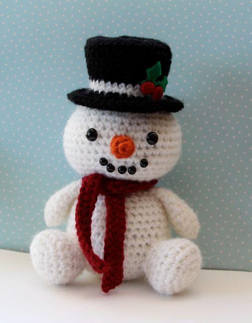 Amigurumi Crochet Pattern Snowman Etsy Snowmen Patterns Crochet Snowman Holiday Crochet