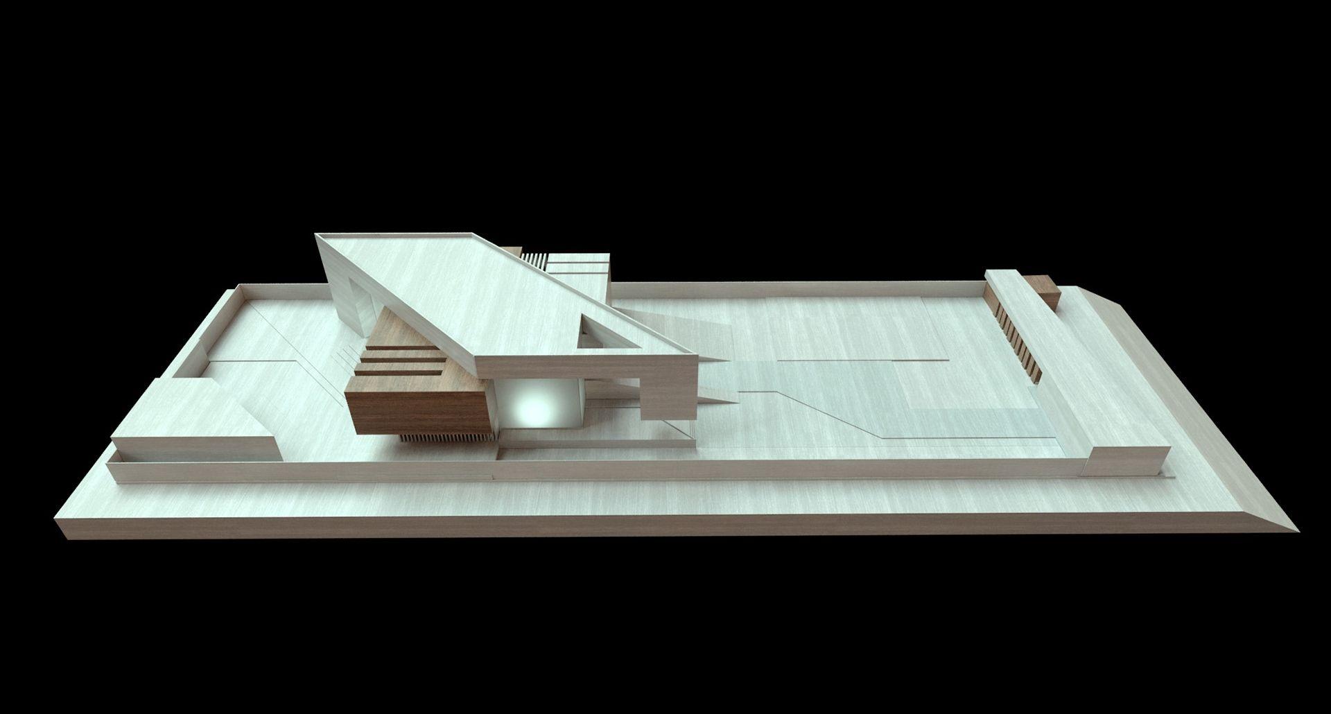 Al agha baherin asia creato arquitectos casa for Casa minimalista maqueta