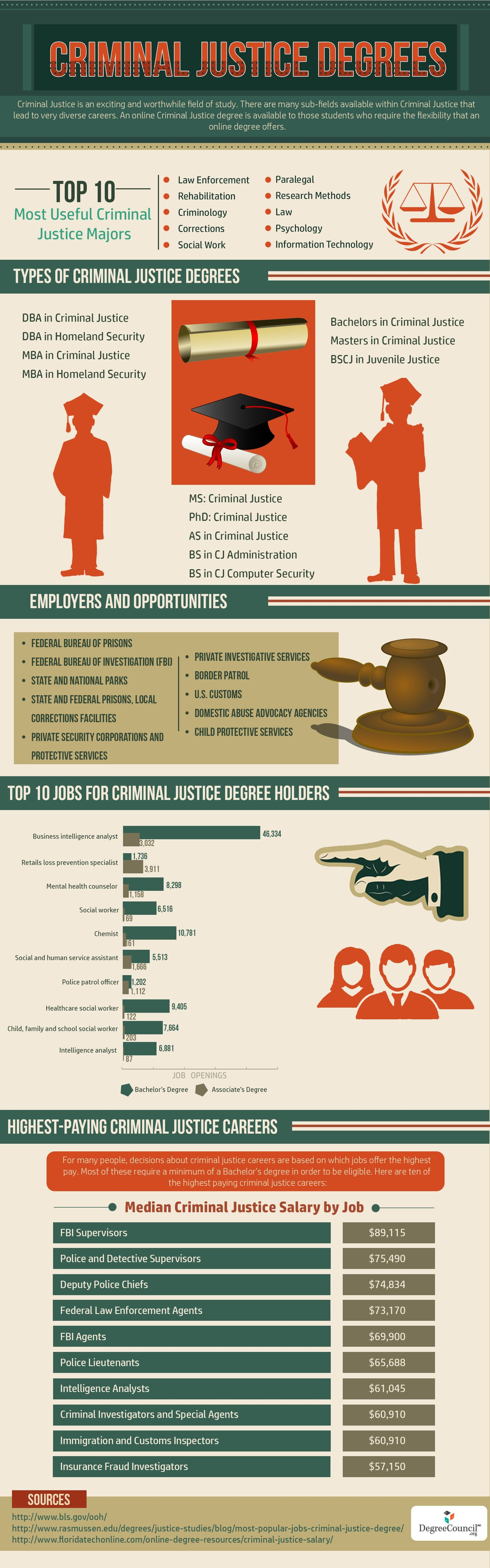 Criminal Justice Degrees Infographic