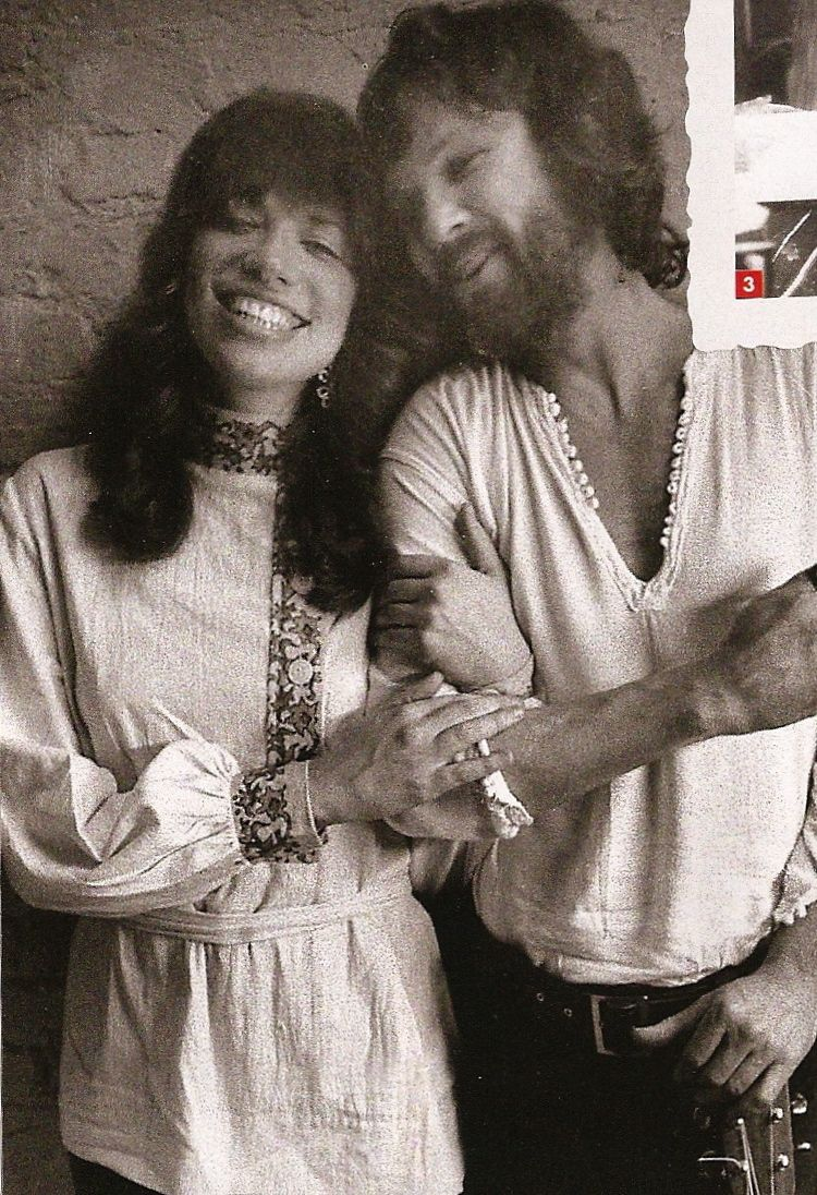Cat Stevens and Carly Simon in London, 1970, during the