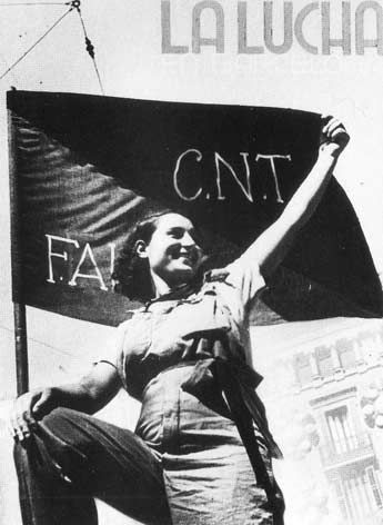 CNT was the Anarchist-influenced trade union, FAI the Spanish Anarchist organisation