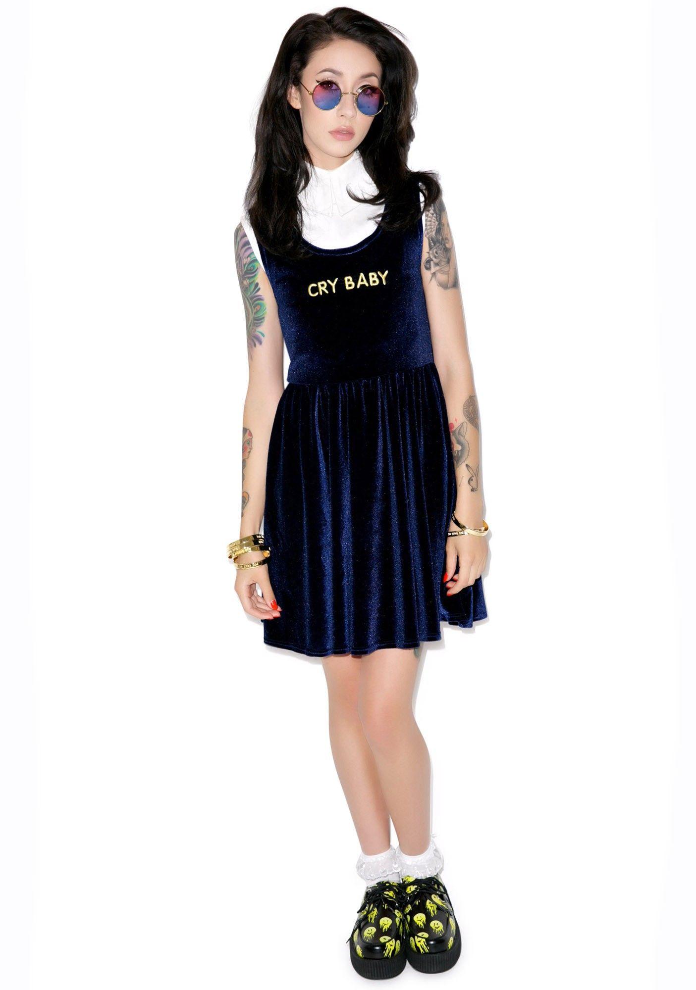 Cry Baby Velvet Dress