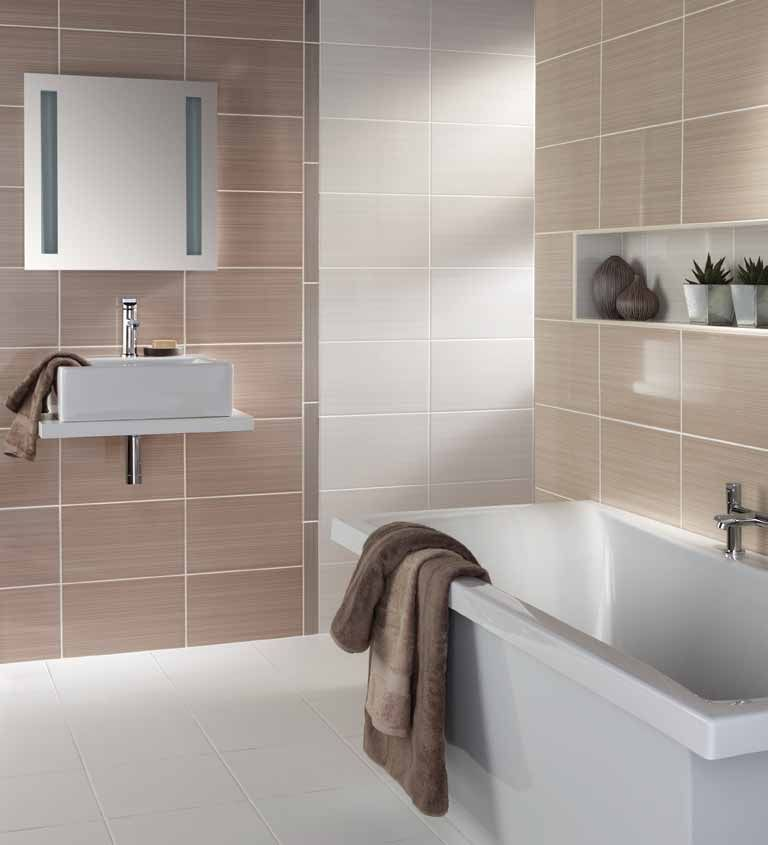 Model Beige Bathroom Tile Ideas White Bath Sink Paper Toilet Natural Stone