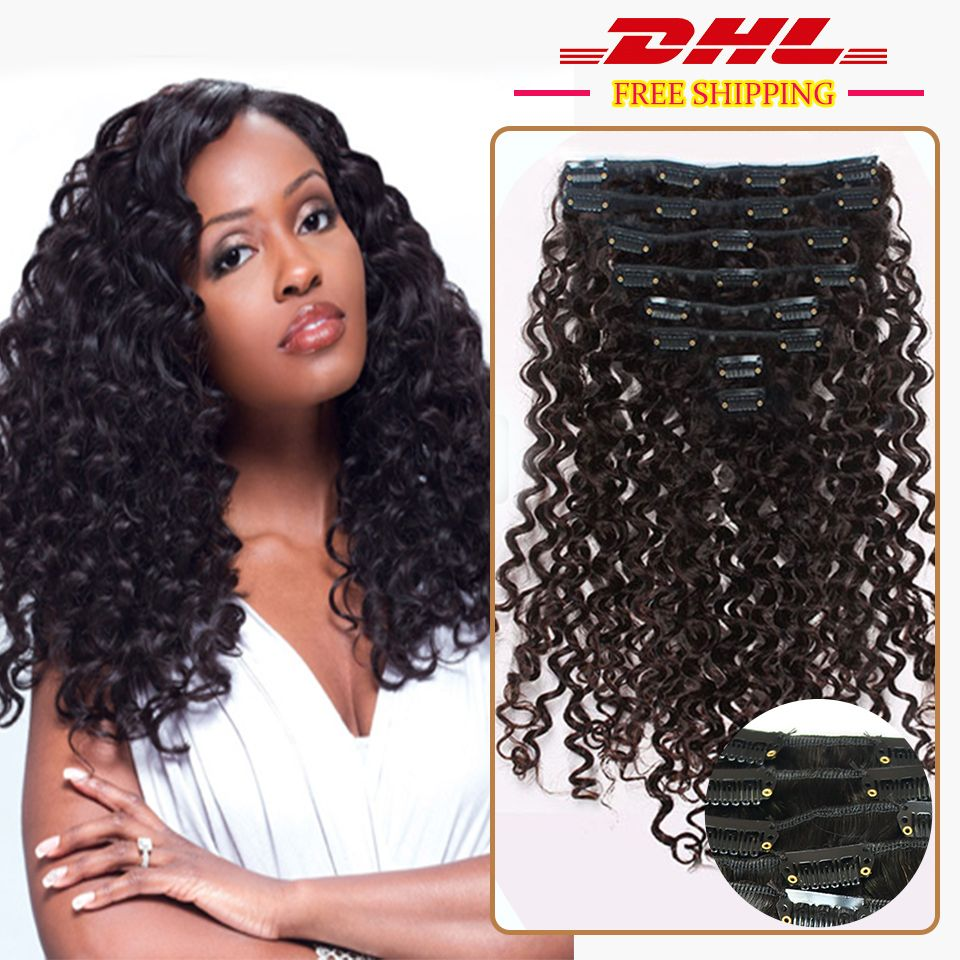 Deep curly african americans remy clip in hair extension 100 real deep curly human hair clip in curly hair extensions virgin peruvian remy clip in hair extension natural black pmusecretfo Images