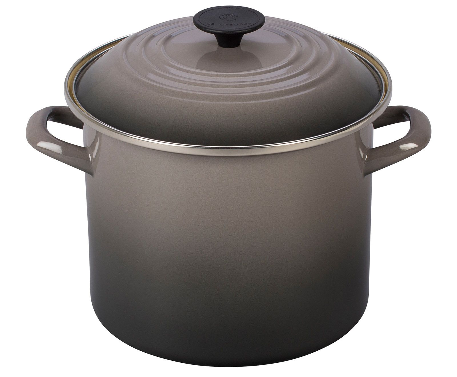 Le Creuset Stockpot Oyster Steel Rims Hot Steam Profile Design