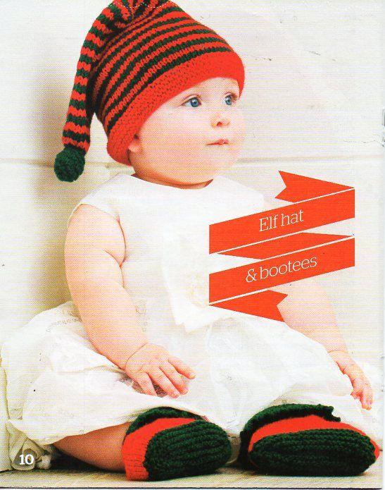 Baby Elf Hat Bootees Knitting Pattern Pdf 0 12 Months Dk Light