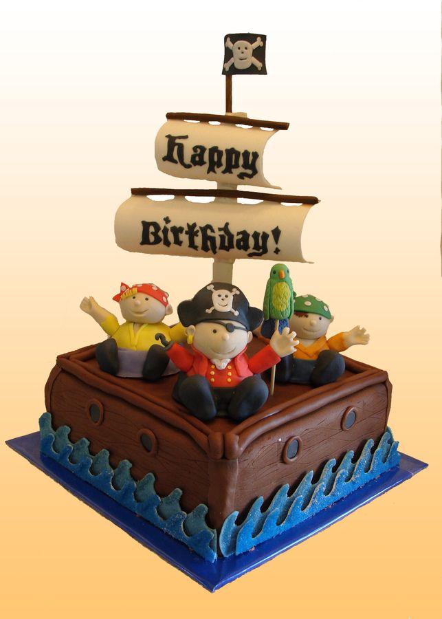 pirate cakes Pirate Ship Birthday Cake 2010 Nautical Sailing