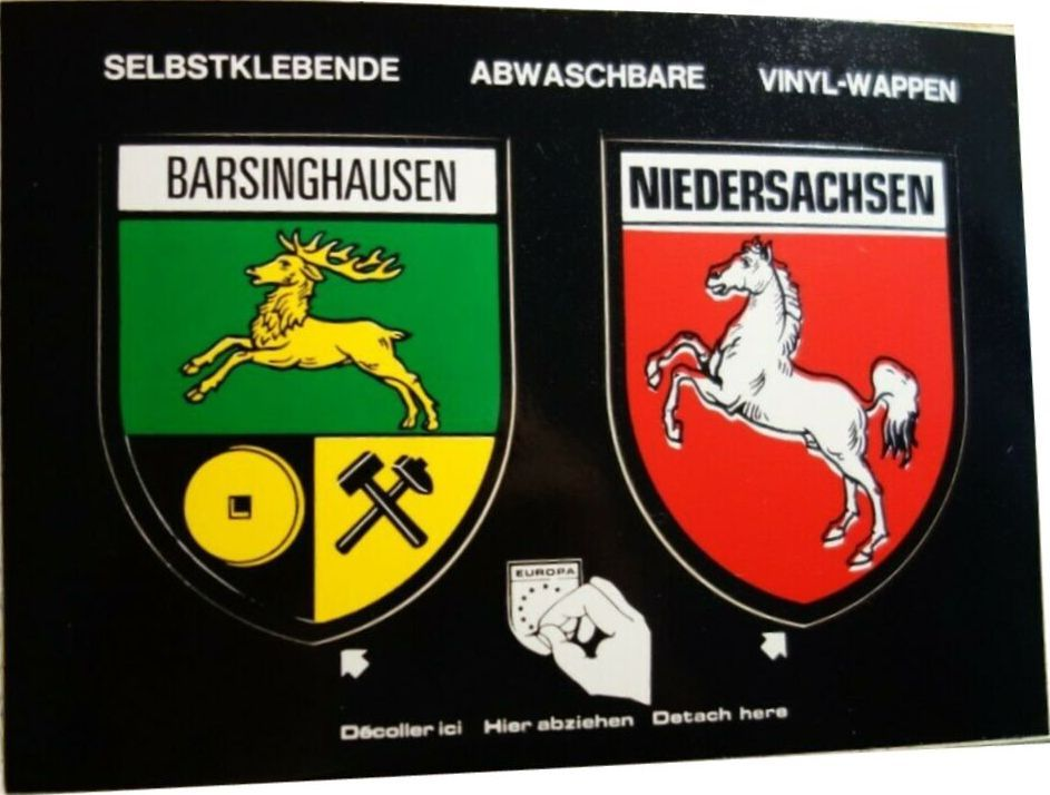 Barsinghausen Niedersachsen Wappen Vinyl Niedersachsen