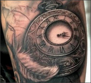 loving the vintage clock pocket watch concept tattoos. Black Bedroom Furniture Sets. Home Design Ideas