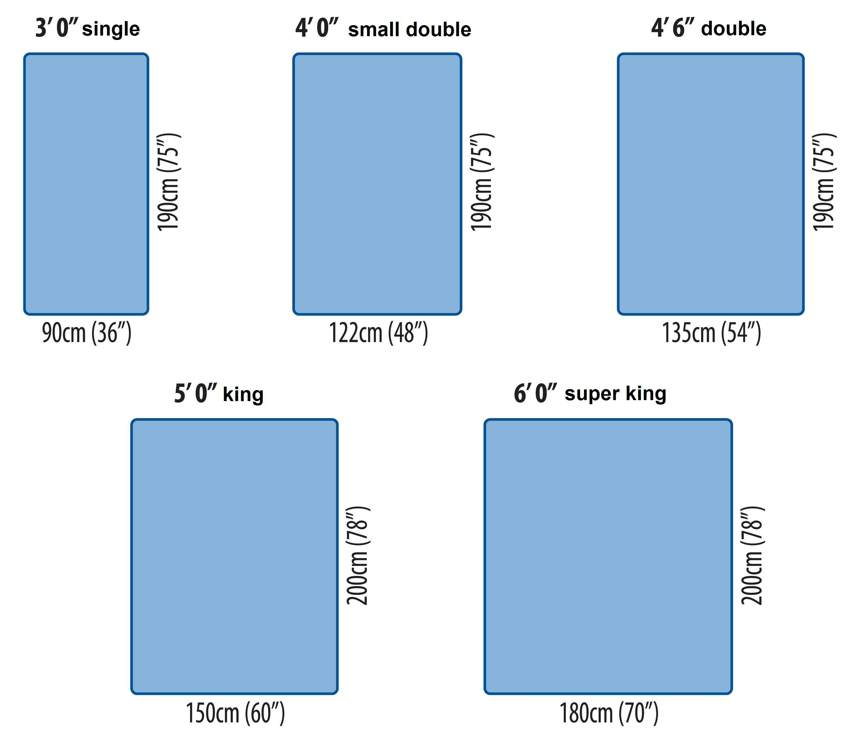 King Size Bed Width In Inches