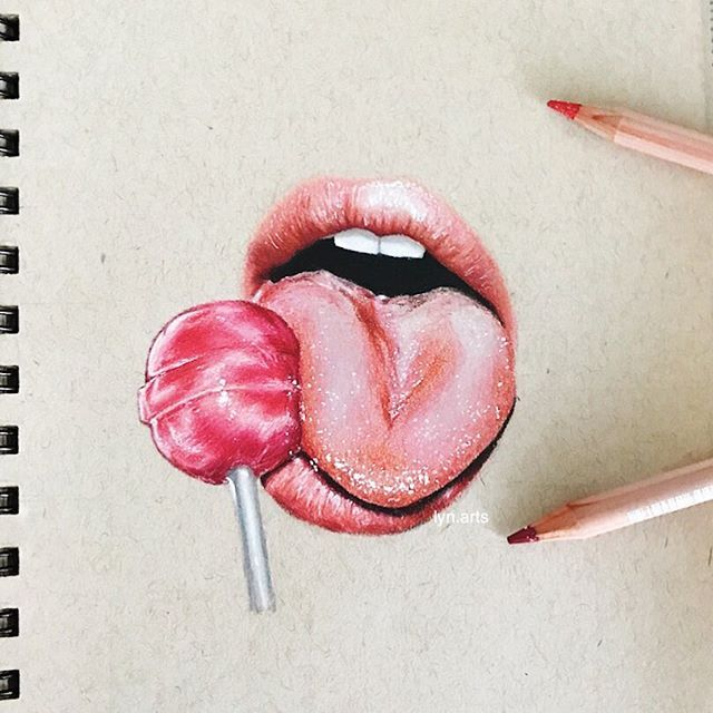 Cherry Lollipops Are My Fav This Is My First Time Drawing