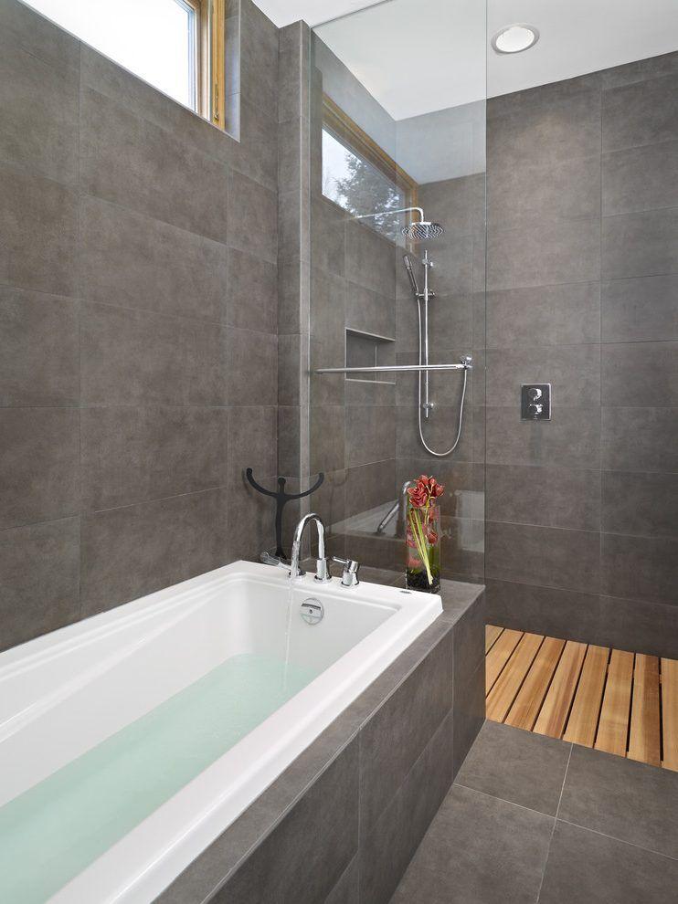 Image result for open shower tile floor Salle de bain Pinterest - Baos Modernos Con Ducha Y Baera