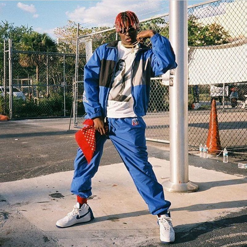 lil yachty wearing the nike air force 1 high l i l y a