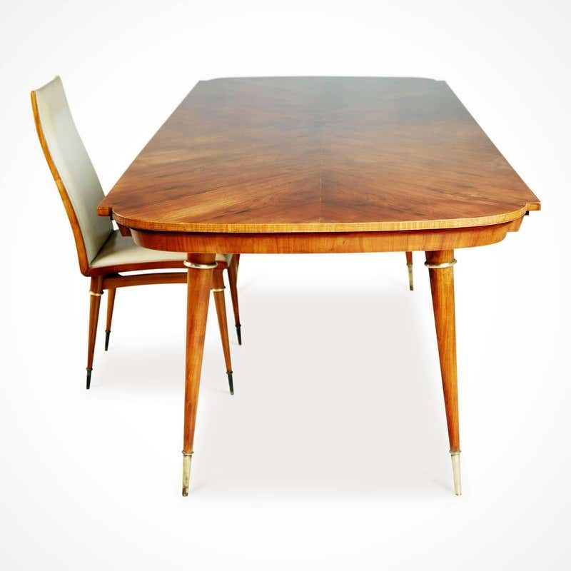 Giuseppe Scapinelli Caviuna Rosewood And Brass Dining Table