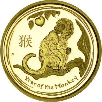 15 Dollar Gold Lunar Jahr des Affen PP
