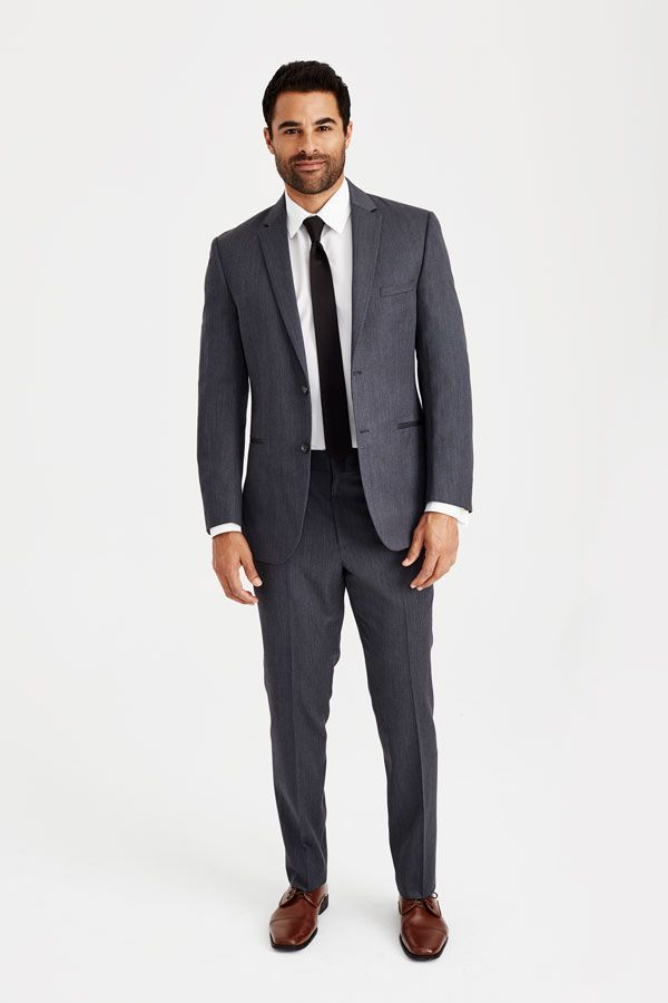 Medium Gray Suit With Brown Shoes A A Wedding Groom Groomsmen