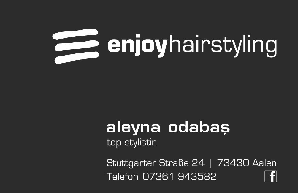 Visitenkarte Aleyna Odabas Topstylistin Ihr Friseur In
