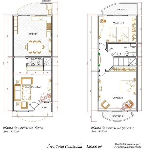 Projetos de sobrados com 3 quartos grátis House