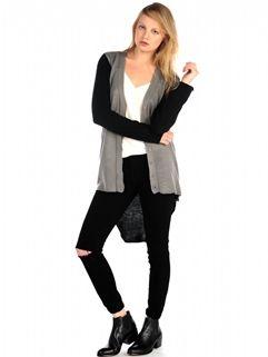 Adella Cardigan in Black/Grey