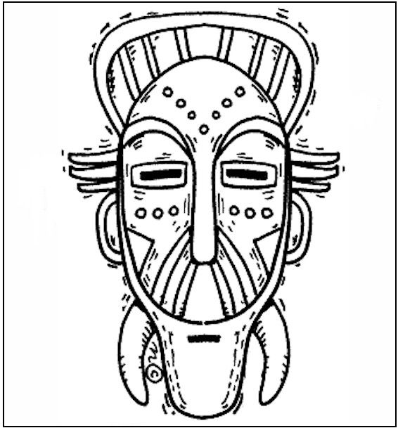Free African Mask Coloring Pages African Mask Coloring Page