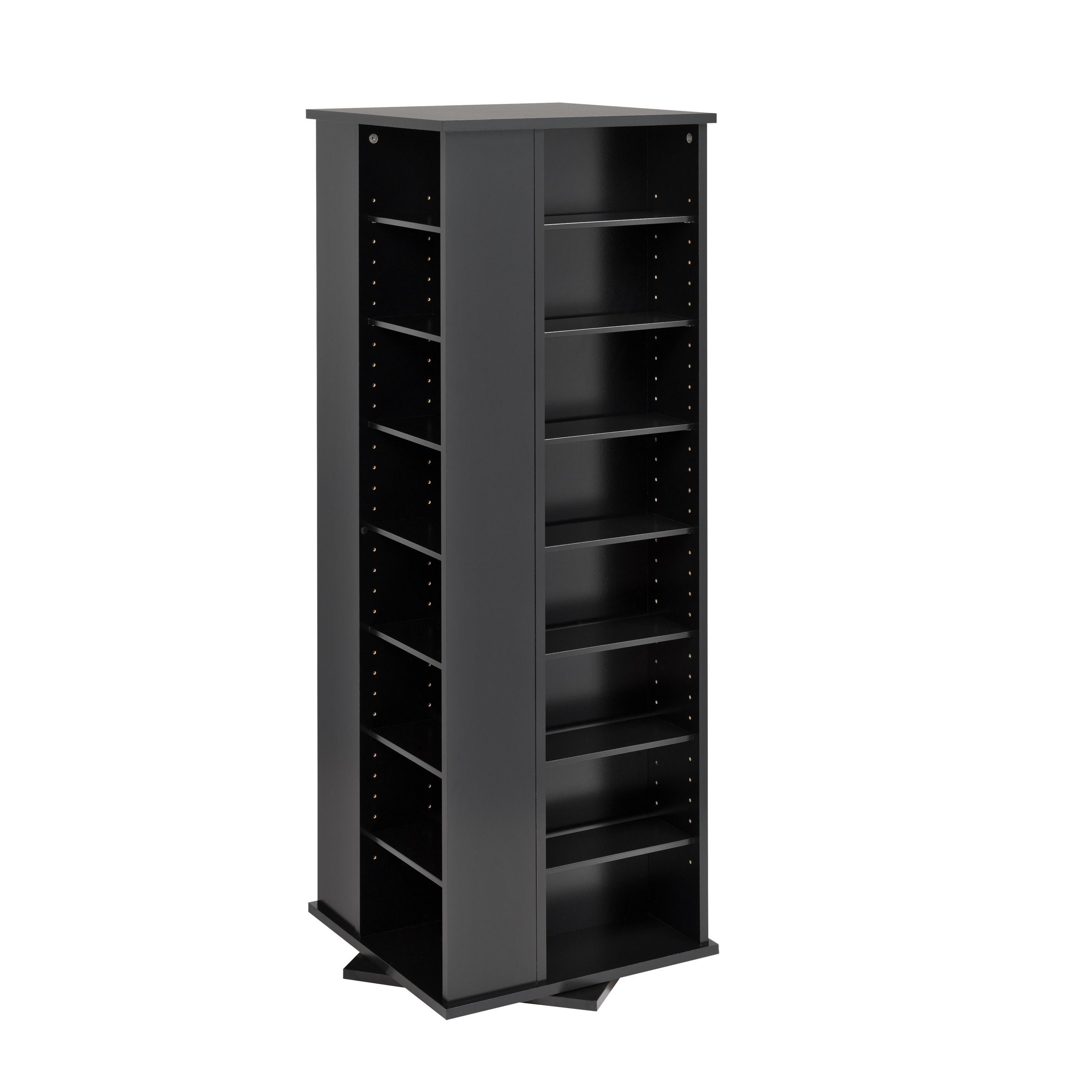 Prepac Spinning Media Storage Tower (Black)