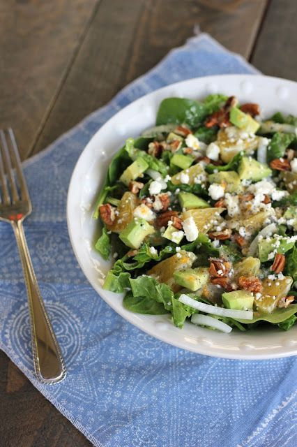 Orange Poppy Seed Salad - Delicious citrus dressing!