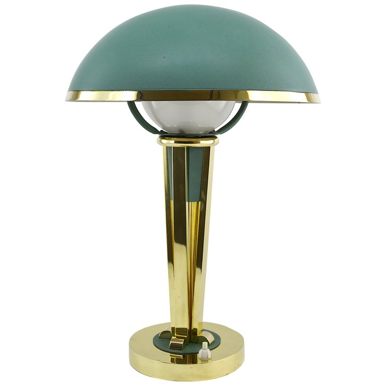 Jacques Adnet French Art Deco Desk Table Lamp Circa 1940 Art Deco Table Lamps Art Deco Desk French Art Deco Desk