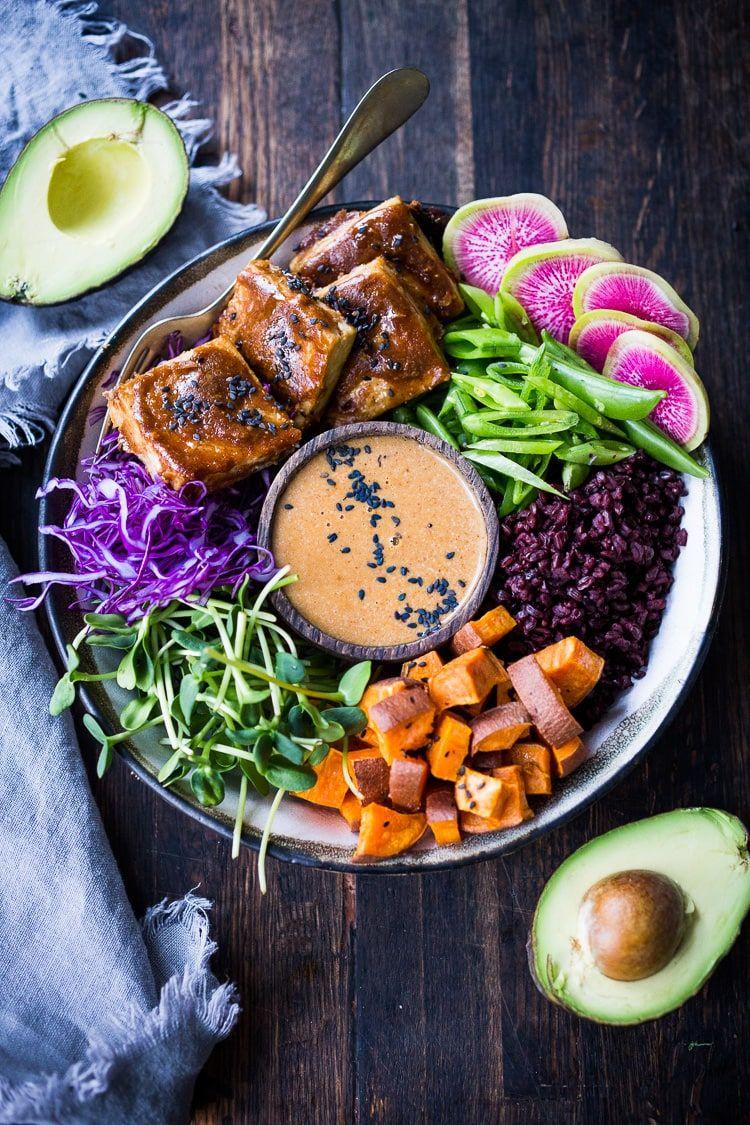 Bali Bowls With Peanut Tofu Recipe Whole Food Recipes Healthy Recipes Healthy Vegetarian