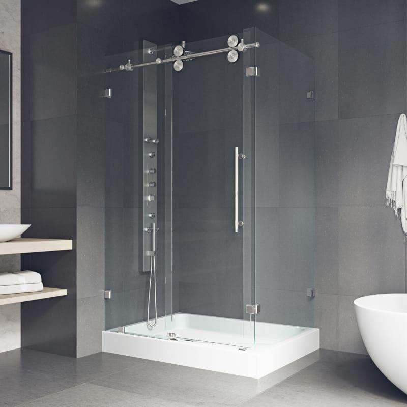 Vigo Vg605148wl Shower Enclosure Frameless Shower Enclosures