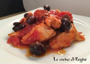 Photo of Chicken breasts with cherry tomatoes and olives Reginé's kit…