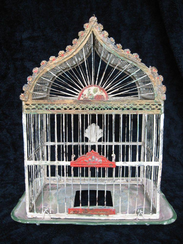 Vintage Antique Victorian Metal Hendryx Bird Cage Rare