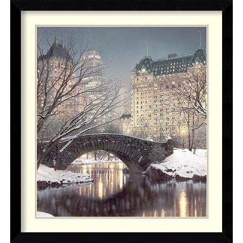 Amanti Art Twilight In Central Park By Rod Chase: 34.63 X 37.63 Print Reproduction Dsw986618 #favoriteplaces