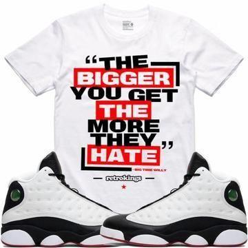 b7f6521b2fe2 Retro Kings T-Shirt Air Jordan 13 He Got Game Sneaker Tees Shirt - BIG TIME  WILLY RK  MensFashionWinter