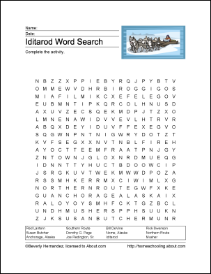 Iditarod Word Search Vocabulary Crossword And More