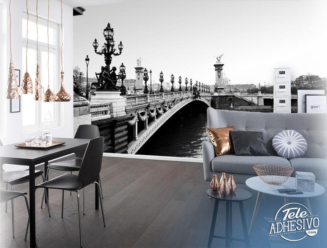 Fotomurales puente de alejandro iii en gran formato para for Fotomurales de ciudades para pared