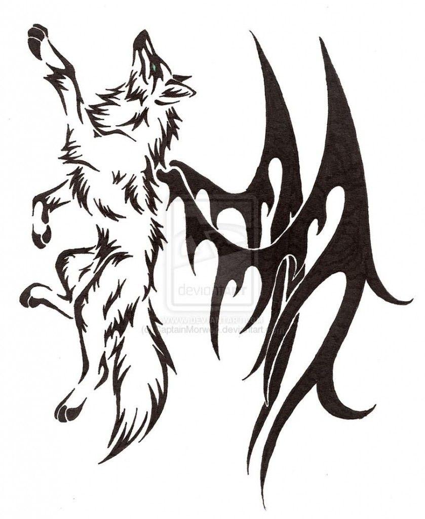Resultado De Imagen Para Tattoo Lobo Tribal Lobos Para Dibujar